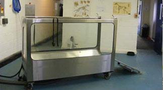 side view of aquatic treadmill at aquavet