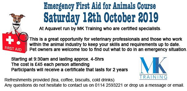 Emergency First Aid for Animals - Course